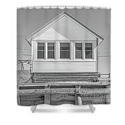 17 - Petunia -  Flower Cottages Series Shower Curtain