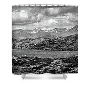 Rocky Mountains Nature Scenes On Alaska British Columbia Border Shower Curtain