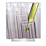 Scientific Experiment In Science Research Lab Shower Curtain
