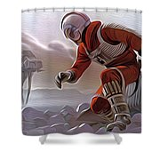 Star Wars Saga Art Shower Curtain