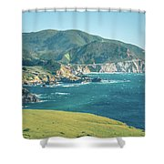 Western Usa Pacific Coast In California Shower Curtain