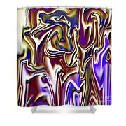 1717 Abstract Thought Shower Curtain