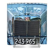 1743.040 1930 Mg Classic Car Shower Curtain