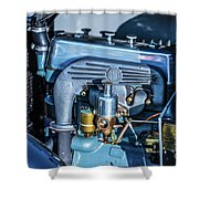 1743.046 1930 Mg Engin Plate Shower Curtain