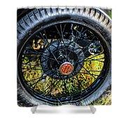 1743.051 1930 Mg Wheel Shower Curtain
