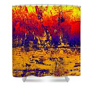 1745 Abstract Thought Shower Curtain