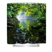Nature Oil Paintings Landscapes Shower Curtain