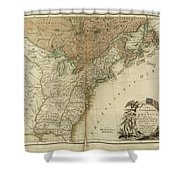 1783 United States Of America Map Shower Curtain
