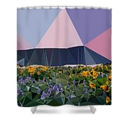 Abstract Art Landscape Of Triangles Shower Curtain