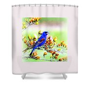 1795 - Blue Grosbeak Shower Curtain