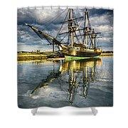 1797 Trading Ship Replica - Friendship Of Salem Shower Curtain
