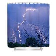 17th Street Lightning Strike Fine Art Photo Shower Curtain