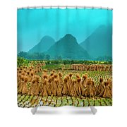 Beautiful Countryside Scenery In Autumn Shower Curtain