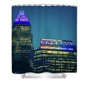 Charlotte North Carolina Cityscape During Autumn Season Shower Curtain