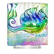 Peace All Over The World Shower Curtain