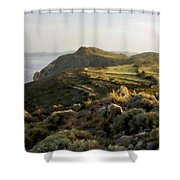 Plan E Landscape Shower Curtain