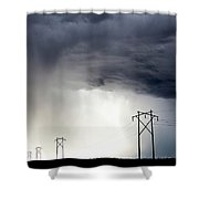 Prairie Storm Clouds Canada Shower Curtain