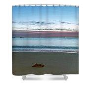 Rocky Daybreak Seascape Shower Curtain
