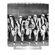Silent Film Still: Sports Shower Curtain