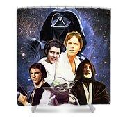 Star Wars Saga Art Shower Curtain