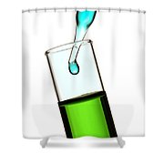 Test Tube In Science Research Lab Shower Curtain