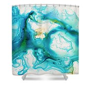 Untitled Shower Curtain by Angelina Cornidez