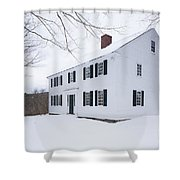1800 White Colonial Home Shower Curtain