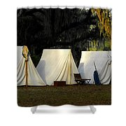 1800s Army Tents Shower Curtain