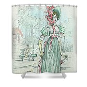 1801 Paris France Fashion Drawing Shower Curtain