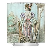 1803 Paris France Fashion Drawing Shower Curtain