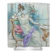 1804 Paris France Fashion Drawing Shower Curtain