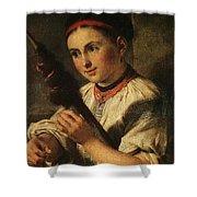 1820- Vasily Tropinin Shower Curtain