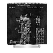1845 Railroad Patent Shower Curtain