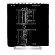 1854 Corn Sheller Patent Drawing Shower Curtain