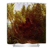1856-57 Pan Amongst The Reeds Arnold Bcklin Shower Curtain