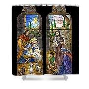 1857 Nativity Scene Shower Curtain