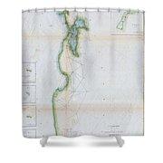 1857 U.s.c.s. Map Of San Francisco Bay Shower Curtain