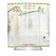 1859 U.s. Coast Survey Map Of Bull's Bay South Carolina Shower Curtain