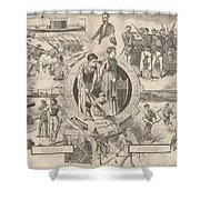 1860-1870 Shower Curtain