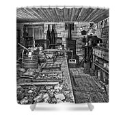 1860's Ore Assay Office Shop - Montana Shower Curtain by Daniel Hagerman