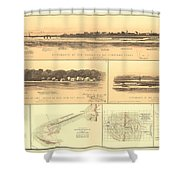 1861 Civil War Records Shower Curtain