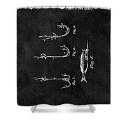 1867 Fishing Lure Patent Shower Curtain