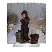 1867 Henry Bacon Shower Curtain