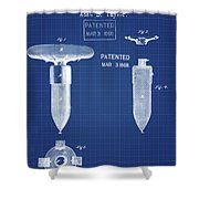 1868 Base For Baseball Players Patent In Blueprint Shower Curtain