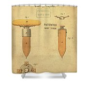 1868 Base For Baseball Players Patent In Sepia Shower Curtain