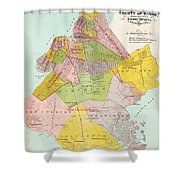 1869 King County Map Shower Curtain