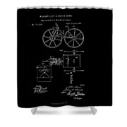 1871 Hand Carriage Patent Drawing Shower Curtain
