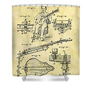 1873 Guitar Patent Shower Curtain