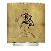 1874 Horse Blinder Patent Shower Curtain