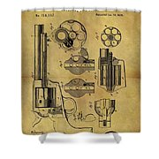 1875 Revolver Patent Shower Curtain